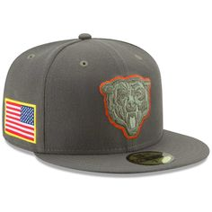 Chicago Bears New Era 2017 Salute To Service 59FIFTY Fitted Hat – Olive 85e3bc7de