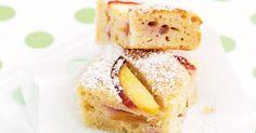 Juicy fresh peaches and creamy yoghurt taste sensational in this yummy slice.