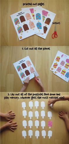 Printable ice cream cone matching matching games free printable printable popsicle matching game solutioingenieria Gallery