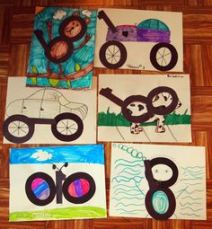 100th Day of School Activity - Give the students a cut-out of the numbers 1-0-0 and let them create a picture. Blog post by Jessica Lawler @ Joy in the Journey