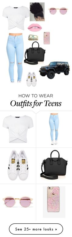 """""""Making moves today"""" by geneva782 on Polyvore featuring New Look, adidas Originals, Givenchy, Skinnydip, Sheriff&Cherry and Wrangler"""