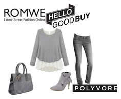"""""""ROMWE"""" by lela1992 ❤ liked on Polyvore featuring mode, AG Adriano Goldschmied et WithChic"""