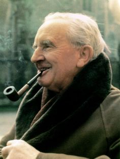 """J.R.R. Tolkien, photo by John Wyatt,..:""""All that is gold does not glitter,  Not all those who wander are lost;  The old that is strong does not wither,  Deep roots are not reached by the frost.    From the ashes a fire shall be woken,  A light from the shadows shall spring;  Renewed shall be blade that was broken,  The crownless again shall be king.""""   ― J.R.R. Tolkien, The Fellowship of the Ring"""