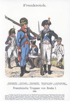 Band XVIII #7.- Französische Truppen vor Breda 1793. Infanterie.