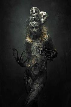 Moderne Kunst Bilder - Memories Of A Dream In Stefan Gesell Photography - . Dark Fantasy Art, Dream Fantasy, Fantasy Women, Arte Horror, Horror Art, Gothic Horror, Dark Gothic, Gothic Art, Dark Art Photography