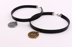 Witcher 3 Yennefer Medallion 32cm+5cm Leather Choker Necklace the Wild Hunt Game Cosplay Jewelry gothic chok Gold/Silver Pendant
