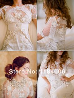 Free Shipping 2014 Hot Sale New Sexy lace A-Line wedding dress HK-353 $199.99