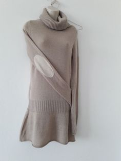 BERENICE - Robe pull beige - XS - cachemire mélangé - TRES BON ETAT