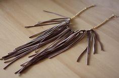 Suede fringe necklace DIY.