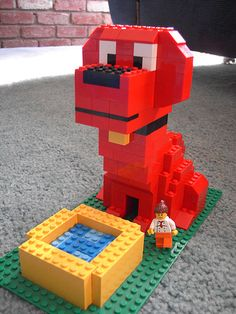 Clifford the Big Red Lego Dog!  (guess I will have to enlist Mikey's help!!!)