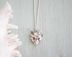 New to MoonTideJewellery on Etsy: Bohemian Wolf Pendant in Tibetan Silver - Native American Coyote Necklace - Fox Face - Woodland Animal & Tribal Jewellery (13.99 GBP)