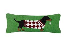 Black Dachsund Snowflake Pillow - A Love Of Dogs – For the Love Of Dogs - Shopping for a Cause
