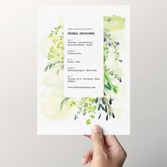 Kinfolk Herbal Infusions Workshop Materials by @jollyedition. Thank you card idea.