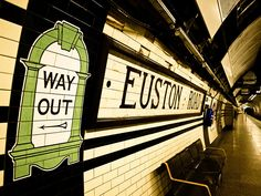 London tube. Euston Stn. Where we caught the train to Liverpool.