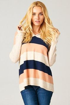 Emma Striped Pullover Hoodie