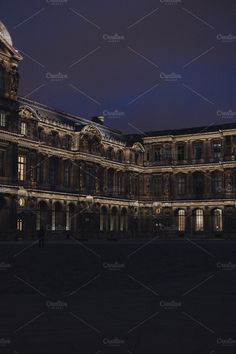 Paris | The Louvre by night by Walking Blonde on @creativemarket