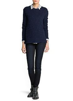 MANGO - CLOTHING - Autumn/Winter 2013 - Cardigans and sweaters - Cable-knit cashmere sweater
