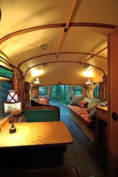 viking short bus conversion turned to cabin on wheels by winkarch 006   1959 Viking Short Bus Converted into Cabin on Wheels You Can Live In Bus Umbauen, School Bus Camper, School Buses, Happy Campers, Rv Campers, Camper Trailers, Travel Trailers, Travel Camper, Short Bus