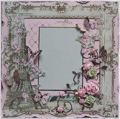 Beautiful vintage frame with dimensional elements.