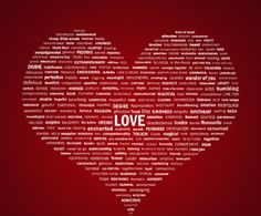 Love in a red heart filled with adjectives Valentines Day Wishes, Be My Valentine, I Love Heart, Happy Heart, Heart Sign, Heart Art, All You Need Is Love, My Love, Hearts And Roses