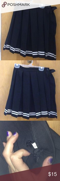 Kawaii Pleated Cheer Skirt Cute cheerleader skirt from Japanese store dog dog! I love this skirt and it fits me perfectly but I need the money. It's great condition! Similar to American Apparel or Glitters for Dinner. Price firm! American Apparel Skirts Mini