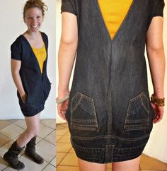 Brainstorm: Repurposed and upcycled Denim Jeans   No longer avail on ETSY but a great idea.