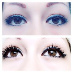 Right side regular mascara left side #3dfiberlas mascara order yours now you will love it http://www.youniqueproducts.com/jessicacampos84