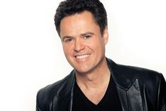 I held Donny's hand as he walked on the tables at the Flamingo Las Vegas show with Marie Osmond.