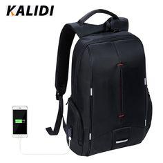 Kalidi marca impermeabile uomini d'affari zaino nero multifunzione scuola viaggi unisex donne laptop backpack per 11 a 15.6 pollice