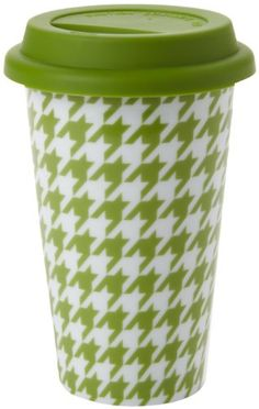 Yedi Houseware Classic Coffee and Tea 11Ounce Houndstooth Mug Green -- Learn more by visiting the image link.