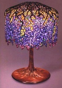 07ed5a978f8 Louis Comfort Tiffany - Stained Glass work Tiffany Studios American (firm  active Wisteria table lamp