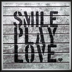Smile Play Love Framed Painting Print