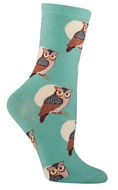 Horned Owl Socks from The Sock Drawer $7.50
