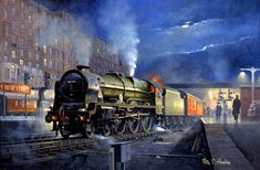 Philip D Hawkins is a world renowned artist famous for his paintings and prints of railways scenes. His art features locomotive portraits and railway scenes from around the world. Steam Art, Steam Railway, Train Art, British Rail, Old Trains, Steam Engine, Steam Locomotive, Train Tracks, Travel Posters