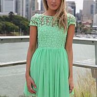 mint dress, so cute and girly!!!