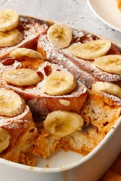 Caramel-Banana Stuffed French Toast Bake – Make your morning special with this fruit-filled breakfast recipe. You'll be surprised at just how easy this french toast dish is to make.