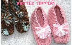 knit simple grandma slippers | the knitting space