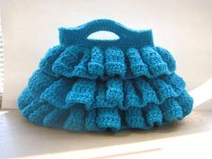 How to make crochet ruffles - video and diagram