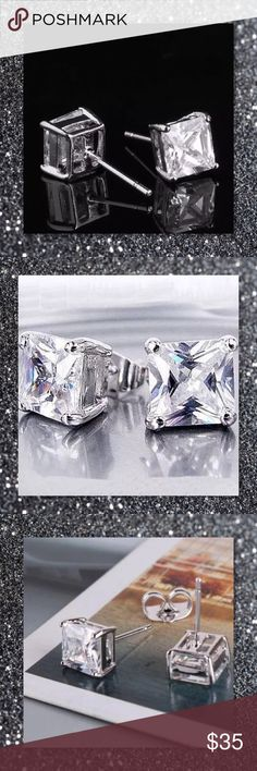 JUST IN🆕 9k White Gold Filled Princess Stud Earr Material: 9k Gold Filled Stone: Cubic Zirconia  Size: 16*7mm Weight: 1.4g Shape: Princess Cut  ⭐️⭐️SORRY NO TRADES AND LOWBALL OFFERS WILL BE IGNORED ⭐️⭐️  ✂️LOWBALL OFFERS WILL BE IGNORED✂️ Glam Squad 2 You Jewelry Earrings
