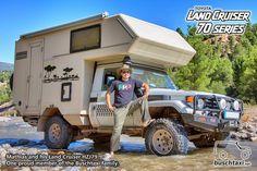 Mathias and his Land Cruiser HZJ79. One proud member of the Buschtaxi Family.  #buschtaxi #landcruiser #70series #j7 #hzj79 #toyota