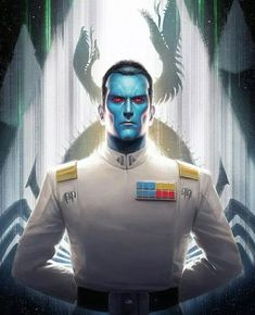 Star Wars Legends: Admiral Thrawn To Make Live-Action Debut In New Project. - ACB Star Wars Film, Star Wars Rebels, Thrawn Trilogy, Thrawn Star Wars, Timothy Zahn, Grand Admiral Thrawn, Star Wars Painting, Star Wars Drawings, Comic Con
