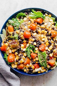 Southwest Quinoa Bean Salad is a healthy, vegetarian salad recipe that's packed with flavour and nutrients! Its loaded with lettuce, ...