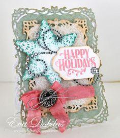 Happy Holidays card designed by Eva Dobilas