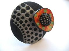 Isabelle Chatelain 70's ring polymer clay | Flickr - Photo Sharing!