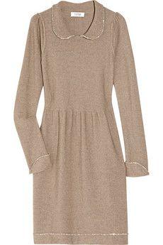 Sonia by Sonia Rykiel Crystal-trimmed merino wool dress