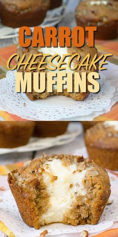 These sweet Carrot Cheesecake Muffins are soft and delicious and will make you think you are eating carrot cake for breakfast. These sweet Carrot Cheesecake Muffins are soft and delicious and will make you think you are eating carrot cake for breakfast. Carrot Recipes, Muffin Recipes, Cake Recipes, Dessert Recipes, Pudding Recipes, Easter Recipes, Bread Recipes, Carrot Cheesecake, Cheesecake Desserts