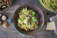 Sallys Rezepte - Nudeln mit grüner Soße / Avocado & Brokkoli / 20 Minuten Essen