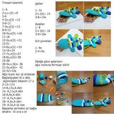 Weaving Crocodile Knitting Model with Amigurumi Technique Vintage Crochet Patterns, Crochet Doll Pattern, Crochet Patterns Amigurumi, Cat Crafts, Crafts For Kids, Crochet Pencil Case, Crochet Wallet, Amigurumi For Beginners, Amigurumi Toys