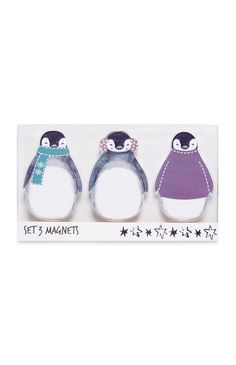 Primark - 3PK Penguin Magnets