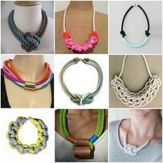 DIY Rope Necklace inspirations - don't like any of those designs but love the concept